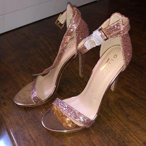 Pink glitter heels forever 21